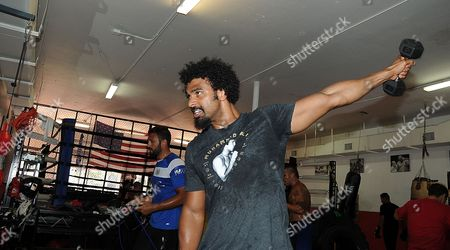 David Haye Is Invited By Joe Fournier Down To Miami 5th Street Gym Where Muhammad Ali Trained David Works Out Wearing A Ali T Shirt And Shorts In Respect Of The Late Fighter.