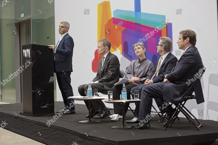Sadiq Khan Mayor Of Lodon Nicholas Serota Director Tate Frances Morris Director Tate Modern Lord Brown Chair Tate And Ed Vaizey Minister Of State Dept Culture - Opening Of The New Tate Modern The Switch House.