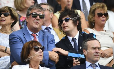 Stock Picture of Stephen Fry and husband Elliot Spencer