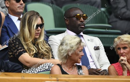 Sol Campbell and Fiona Barratt-Campbell in the Royal Box