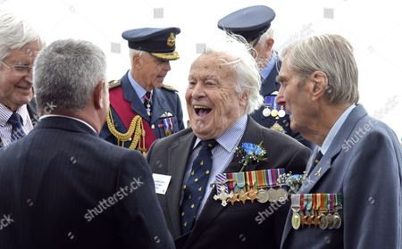 Battle of Britain veterans Geoffrey Wellum DFC and Paul Farnes DFM