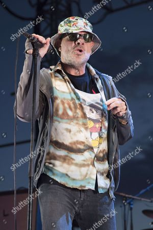 Stock Image of Bernie Bonvoisin of Trust performing