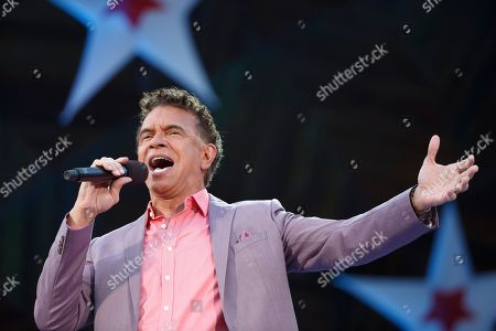 Brian Stokes Mitchell performs during the annual Boston Pops Fireworks Spectacular on the Esplanade, in Boston