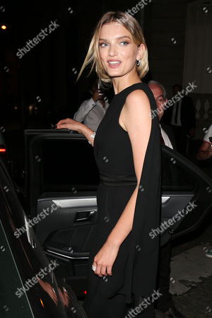 Lily Donaldson leaves the Vogue Party