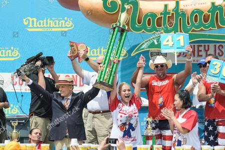 Editorial photo of Nathan's Famous International Hot Dog Eating Contest, New York, USA - 04 Jul 2017