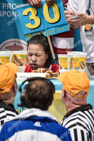Editorial picture of Nathan's Famous International Hot Dog Eating Contest, New York, USA - 04 Jul 2017