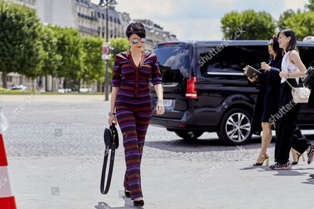 Editorial photo of Street Style, Haute Couture Fashion Week, Paris, France - 03 Jul 2017