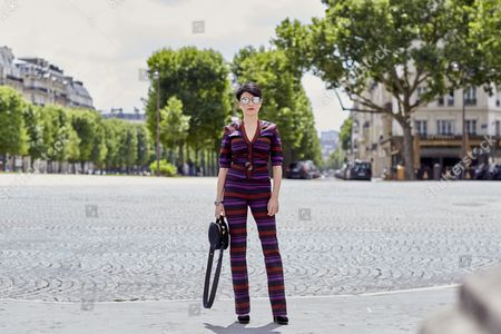 Editorial image of Street Style, Haute Couture Fashion Week, Paris, France - 03 Jul 2017