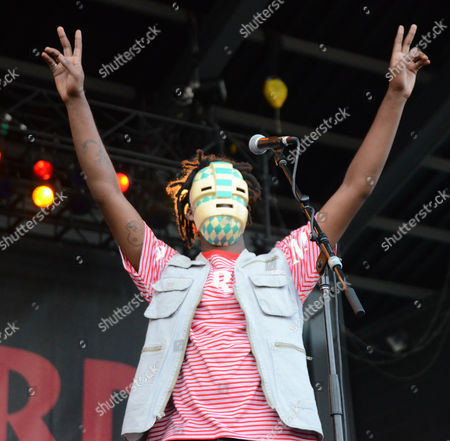 Rapper WebsterX performs live at Henry Maier Festival Park during Summerfest in Milwaukee, Wisconsin