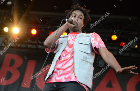 Stock Image of Rapper WebsterX performs live at Henry Maier Festival Park during Summerfest in Milwaukee, Wisconsin