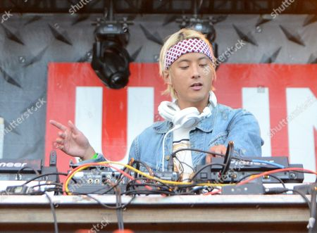 Electronic artist Elephante performs live at Henry Maier Festival Park during Summerfest in Milwaukee, Wisconsin