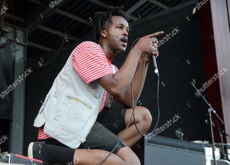 Stock Photo of Rapper WebsterX performs live at Henry Maier Festival Park during Summerfest in Milwaukee, Wisconsin