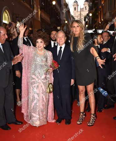 Gina Lollobrigida, Gianni Letta, Tiziana Rocca, Gianni Battistoni