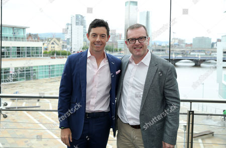 Stock Image of Rory McIlroy with Barry Funston (Chief Executive of the Rory Foundation)