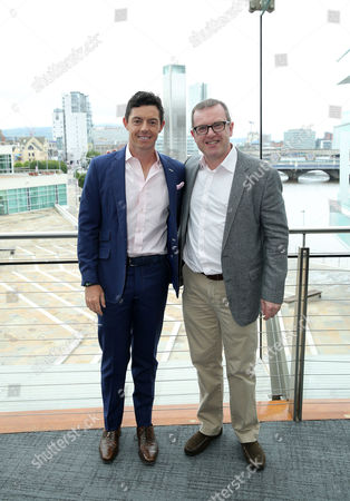 Stock Photo of Rory McIlroy with Barry Funston (Chief Executive of the Rory Foundation)