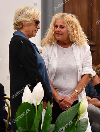 Stock Photo of Lidia Ravera and Elisabetta Villaggio