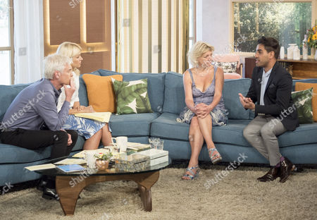 Phillip Schofield and Holly Willoughby with Anne Atkins and Dr Ranj