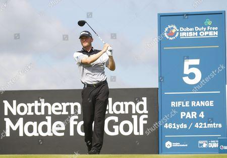 Editorial image of Dubai Duty Free Irish Open Pro-Am golf tournament, Portstewart Golf Club, Londonderry, Northern Ireland, UK - 05 Jul 2017