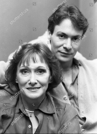 Actress Sian Phillips, real name Dame Jane Elizabeth Ailwen Phillips DBE, with third husband Robin Sachs. pictured at their London home in January 1985.