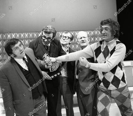 Clive Dunn, Les Dawson, Ray Martine and Ted Ray, with Barry Cryer