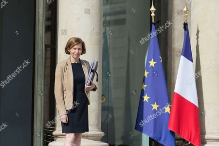 French Defense Minister Florence Pagny leaves after the weekly cabinet meeting at Elysee Palace