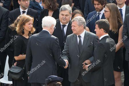 L-R: Anne Gravoin, Lionel Jospin and Manuel Valls