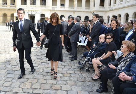 Manuel Valls and his wife Anne Gravoin