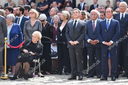 Bernadette Chirac, Claude Chirac, Nicolas Sarkozy, Jean-Pierre Raffarin, Francois Hollande, Dominique de Villepin,