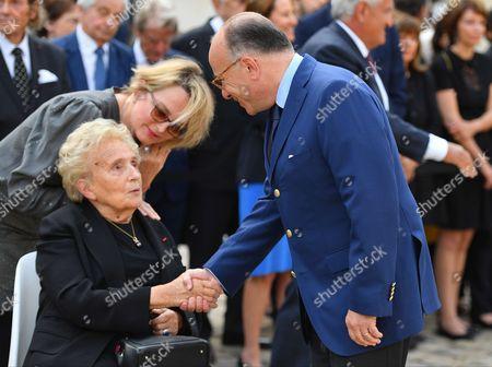 Bernard Cazeneuve, Claude Chirac and Bernadette Chirac