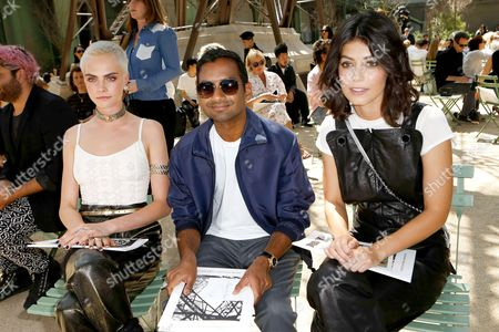 Stock Photo of Cara Delevingne, Aziz Ansari and Shlomit Malka in the front row