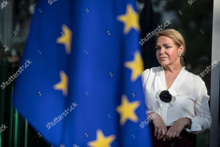 Widow of late Czech Republic's President Vaclav Havel, Dagmar Havlova, attends the inauguration of the Vaclav Havel Building, in Strasbourg, Eastern France