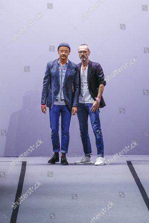 Rolf Snoeren and Viktor Horsting on the catwalk