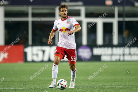 Stock Picture of , 2017; Foxborough, MA, USA; New York Red Bulls defender Damien Perrinelle (55) in action during the second half of an MLS match between New York Red Bulls and New England Revolution at Gillette Stadium. New York won 3-2