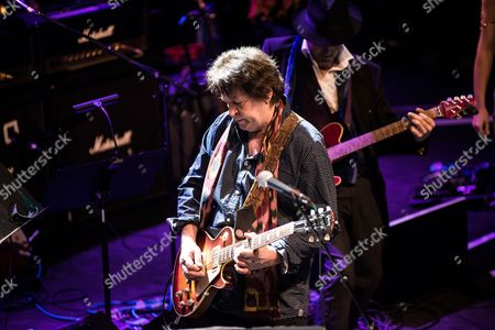 London United Kingdom - October 25: Guitarist Mick Taylor Performing Live On Stage As Part Of The 'evening For Jack Bruce' Tribute Concert At The O2 Shepherd's Bush Empire In London On October 25