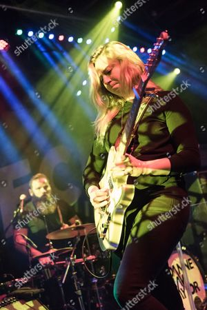 Bristol United Kingdom - October 16: English Blues Rock Musician Joanne Shaw Taylor Performing Live On Stage At The Fleece In Bristol On October 16