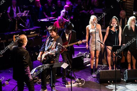 London United Kingdom - October 25: Mick Taylor Terry Reid And Others Performing Live On Stage As Part Of The 'evening For Jack Bruce' Tribute Concert At The O2 Shepherd's Bush Empire In London On October 25