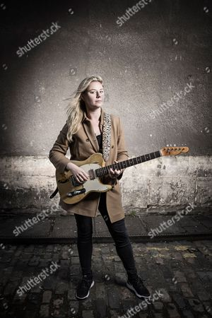 Bristol United Kingdom - October 16: Portrait Of English Blues Rock Musician Joanne Shaw Taylor Photographed Before A Live Performance At The Fleece In Bristol On October 16