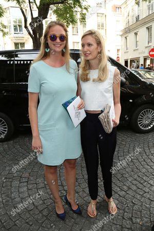 Princess Luisa Maria of Belgium and step sister Princess Elisabetta Rosboch von Wolkenstein of Belgium