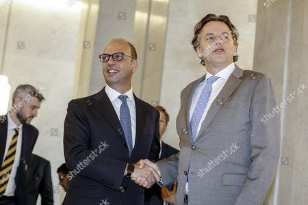 Angelino Alfano and Bert Koenders