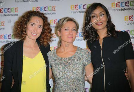 Marie-Sophie Lacarrau, Anne-Sophie Lapix, Leila Kaddour-Boudadi