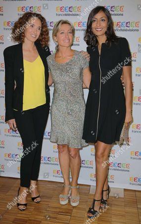 Stock Photo of Marie-Sophie Lacarrau, Anne-Sophie Lapix, Leila Kaddour-Boudadi