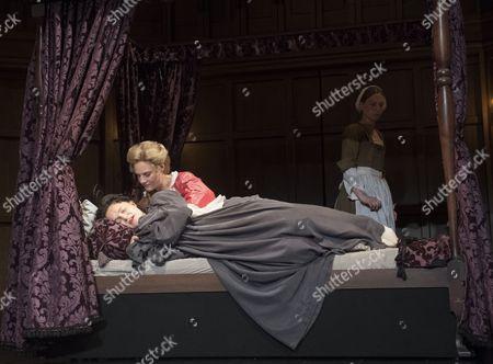 Emma Cunniffe as Princess Anne, Romola Garai as Sarah Churchill, Beth Park as Abigail