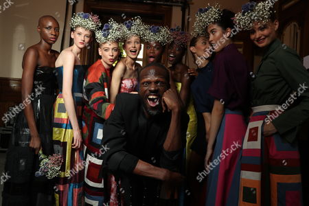 Imane Ayissi and models backstage