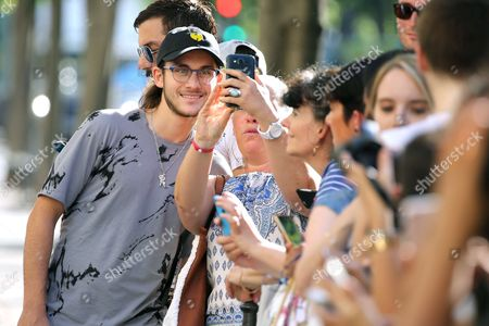Rene-Charles Angelil and fans