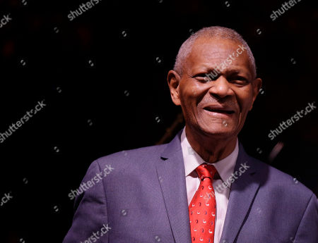 Legendary pianist McCoy Tyner looks to the audience after performing at the botanical Garden Citta' Studi, in Milan, Italy