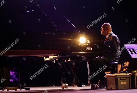 Stock Image of Legendary pianist McCoy Tyner performs at the botanical Garden Citta' Studi, in Milan, Italy