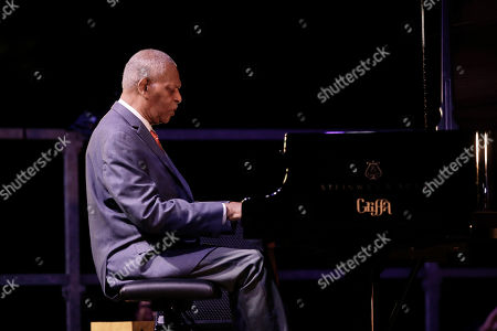 Stock Photo of Legendary pianist McCoy Tyner performs at the botanical Garden Citta' Studi, in Milan, Italy