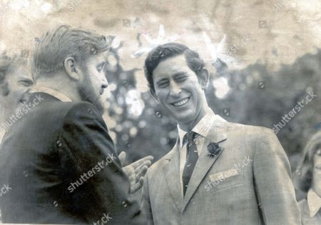Editorial picture of Prince Of Wales - 1976. Picture Shows Prince Charles The Sunshine Boat Before He Took The Helm On The Montgomery Canal At Welshpool With Actor Donald Houston.