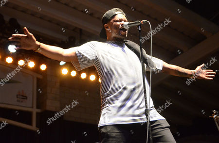 Rap artist BJ The Chicago Kid performs live at Henry Maier Festival Park during Summerfest in Milwaukee, Wisconsin