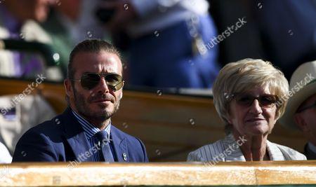 David Beckham and his mother Sandra Beckham